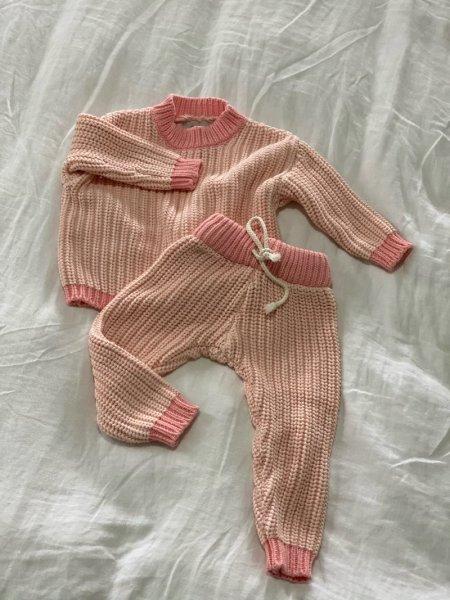 By Billie Contrast Knit Sets