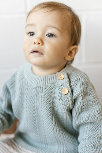 Two Darlings Baby Knit Sweater (surf) ** Pre Order
