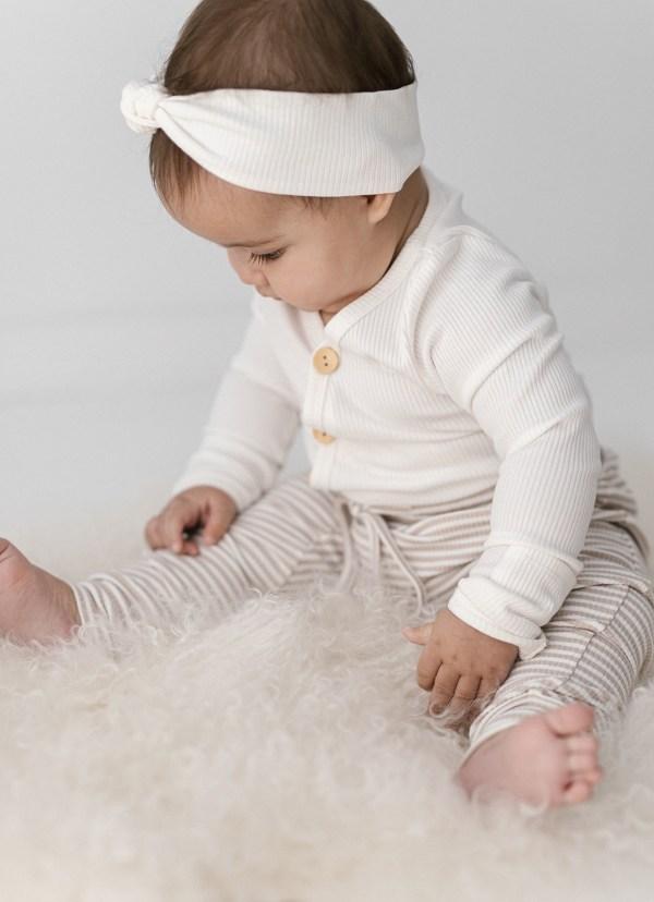Two Darlings Baby Harem Pant (fawn stripe) ** Pre Order