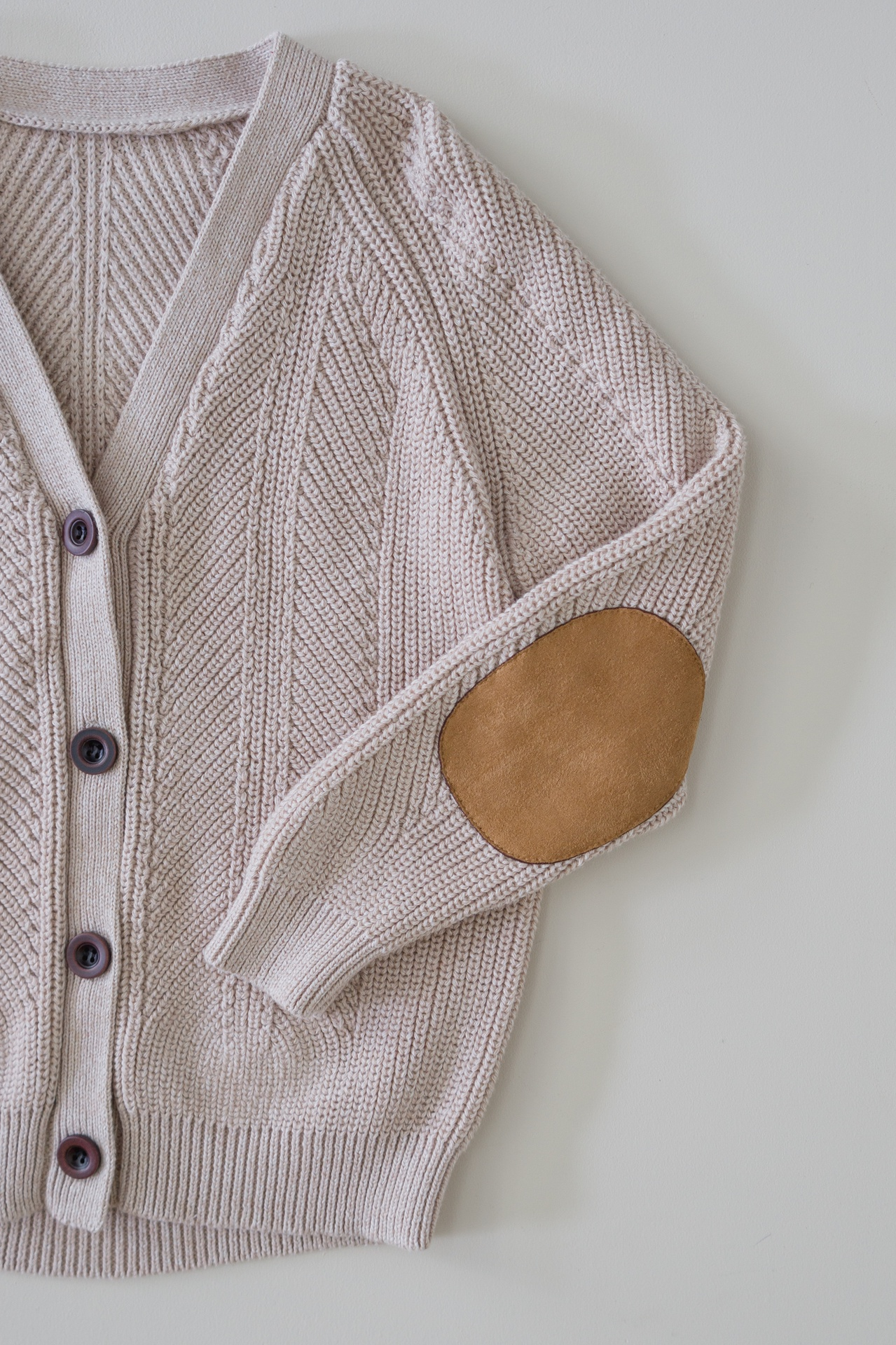 Two Darlings Kids Knit Cardigan (cashew) ** Pre ORder