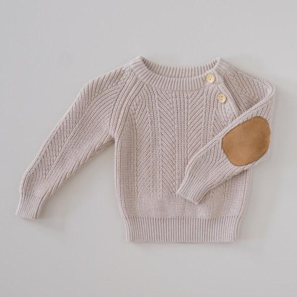Two Darlings Baby Knit Sweater (cashew)