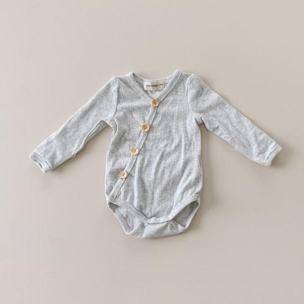 Two Darlings Baby Long Sleeve Original Bodysuit (cloud) **pre order