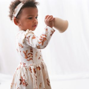Burrow and Be Bodysuit Dress (autumn leaves)