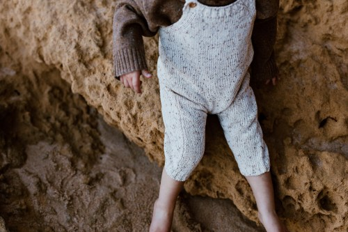 Grown Funfetti Speckle Overall (sand)