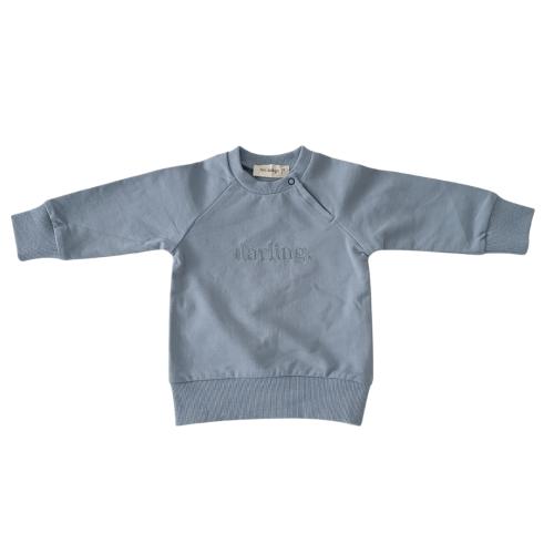 """Two Darlings """"Darling"""" Sweatshirt (steel blue)"""