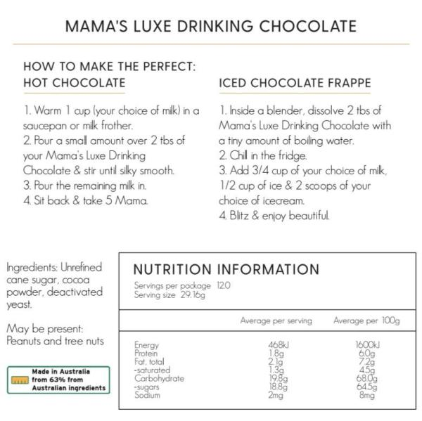 Milk and Cookies By Jewels Luxe Lactation Drinking Chocolate (chocolate)
