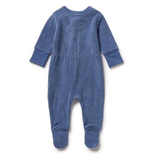 Wilson and Frenchy Organic Terry Zipsuit (rain drop)