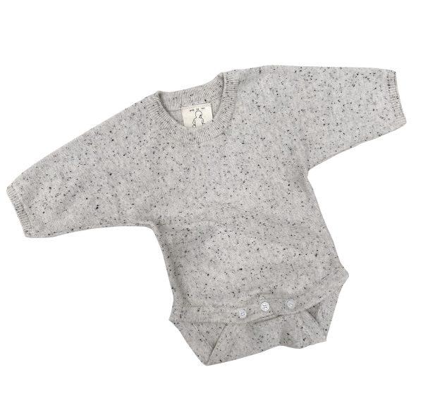 Pop Ya Tot Knitted Bodysuit (fleck)