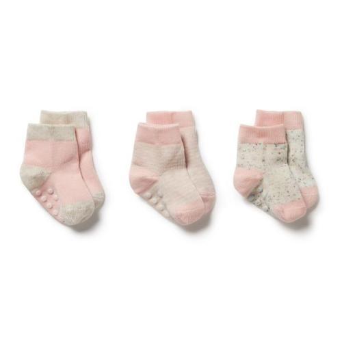 Wilson and Frenchy 3 Pk Baby Socks (cantaloupe)
