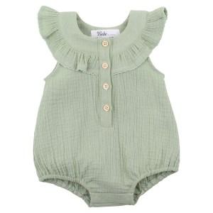 Bebe Crinkle Bodysuit (sage)