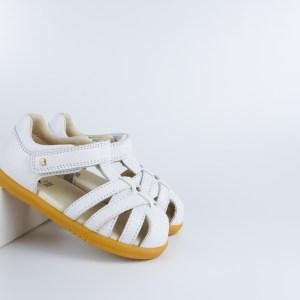 Bobux i-walk Cross Jump Sandal (white)