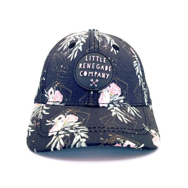 Little Renegade Floral Valentine Baseball Cap