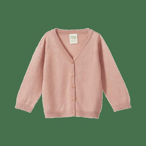 Nature Baby Light Cotton Knit Cardigan (tulip)