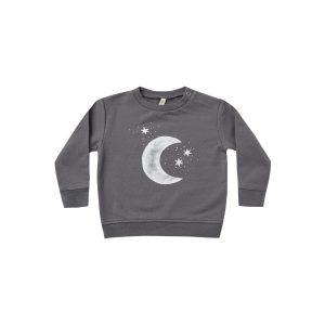 Quincy Mae Fleece Sweatshirt (moon and stars dark sea)**PRE ORDER
