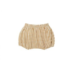 Quincy Mae Woven Bloomer Gingham (honey/ivory)**PRE ORDER