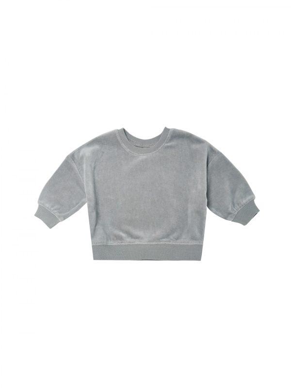 Quincy Mae Drop Shoulder Sweatshirt (dusty blue)**PRE ORDER