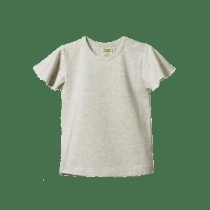 Nature Baby Petal Sleeve Tee (light grey marl)