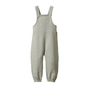 Nature Baby Tipper Overalls Gingham (lagoon check)