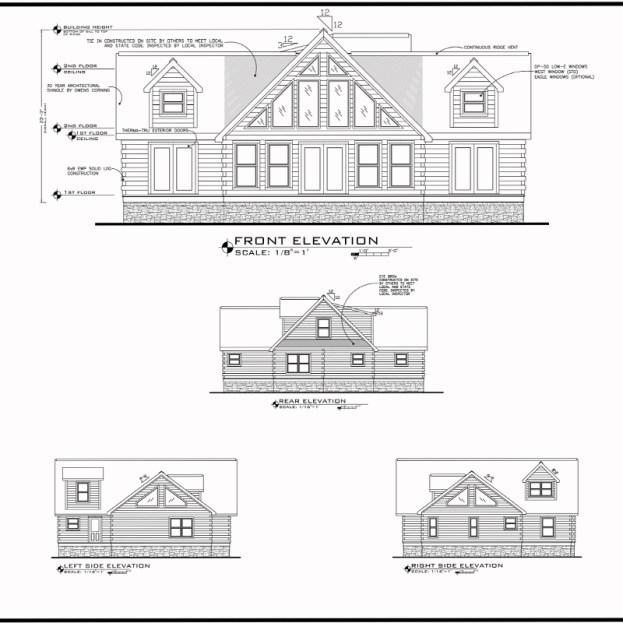 blue ridge log cabins floor plan jocassee V elevation