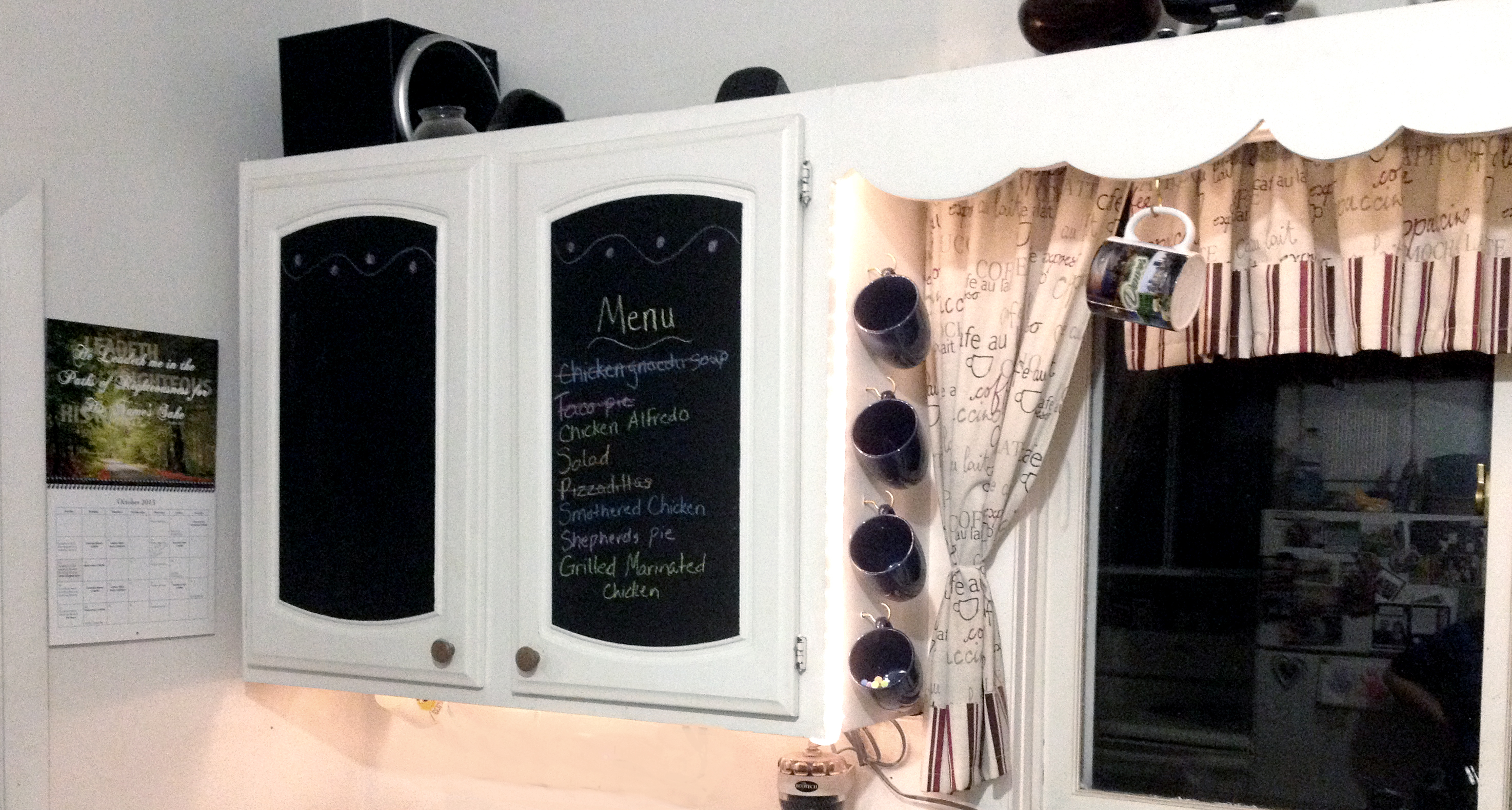 DIY Kitchen Cabinet Makeover Chalkboard Paint Love My DIY Home - Diy kitchen cabinets makeover