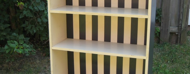 Fix Up That Old Piece of Furniture in the Basement – DIY Painted Bookshelf