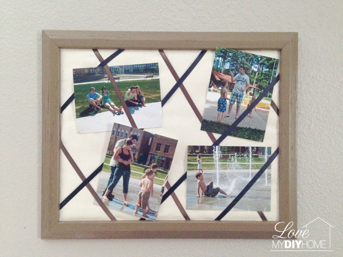 Upcycle old photo frame into a French Photo Board DIY