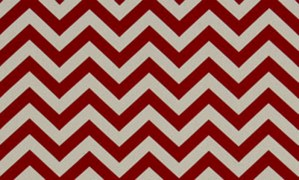 red chevron couch pillow