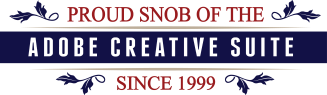 Adobe Snob Badge