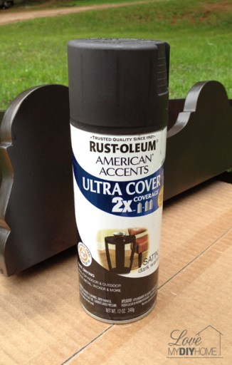 Rustoleum spray paint - simple tool for an antique chair redo