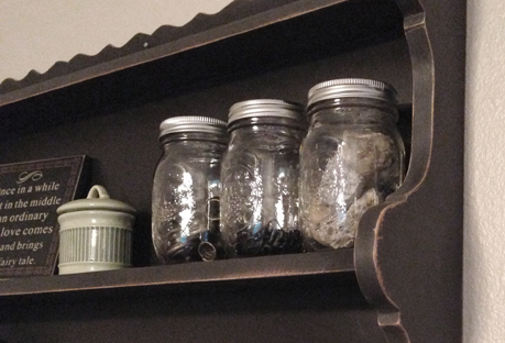 Mason jar shelf redo | Love My DIY Home