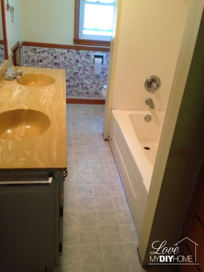 Bathroom Reno Before {Love My DIY Home}