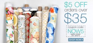 Online Fabric Store Coupon {Love My DIY Home}