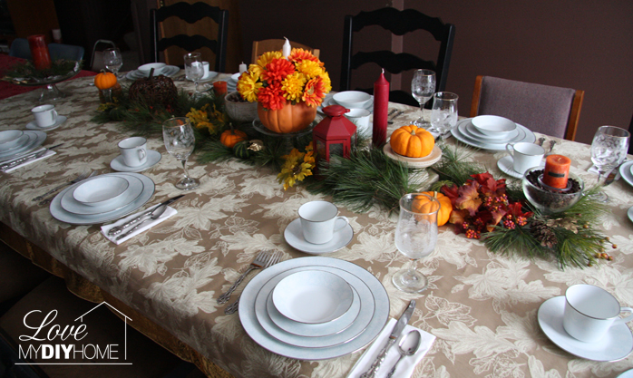 Thanksgiving Tablescape {Love My DIY Home}