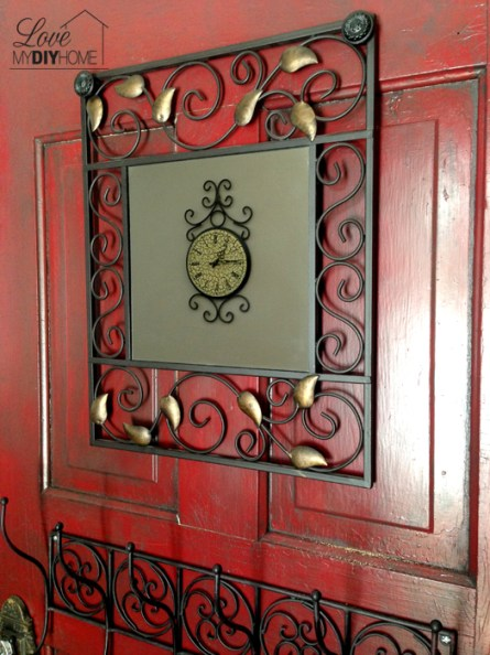 Take an old, antique door and turn it into something fabulous! Door Turned Hall tree @ lovemydiyhome.com