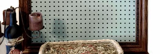 Decorative Peg Board – Craft Room Decor