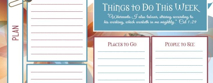 Weekly Planner – Free Printable PDF