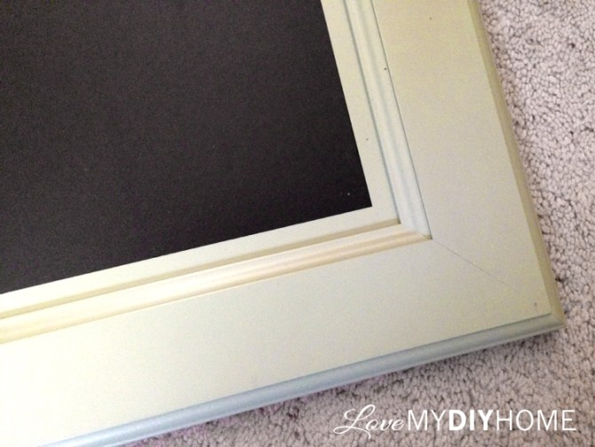 Kitchen Cabinet Door Chalkboard {Love My DIY Home}