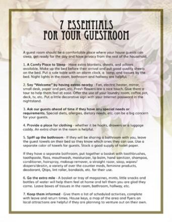 7 Guest Room Essentials FREE PDF {Love My DIY Home}