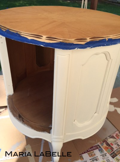 French Provincial Drum Table Revival by {Love My DIY Home}