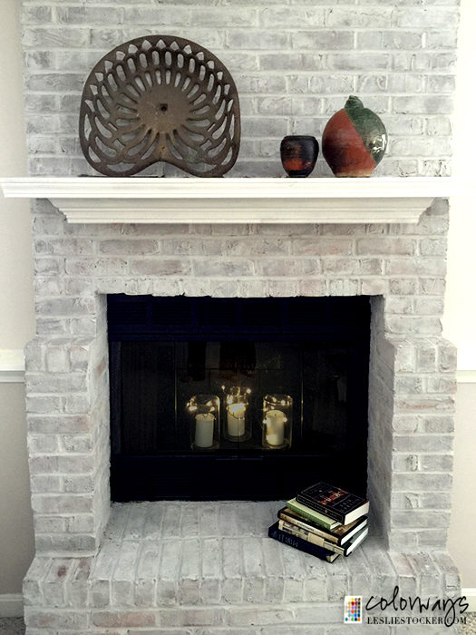 Leslie Stocker Fireplace {Love My DIY Home}