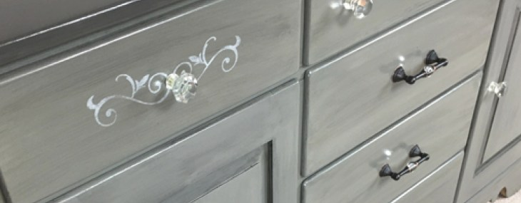 An Old China Cabinet Gets a Split Personality – with Country Chic Paint