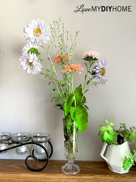 Lettuce Flower Arranging {Love My DIY Home}