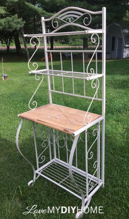 Baker's Rack Becomes French Beauty {Love My DIY Home}