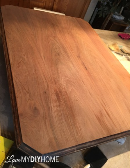 Table before Staining
