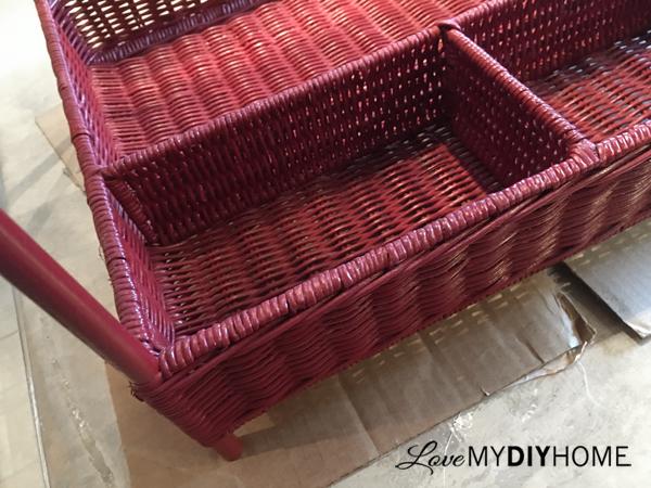 Wicker Cart Re-purposed {Love My DIY Home}