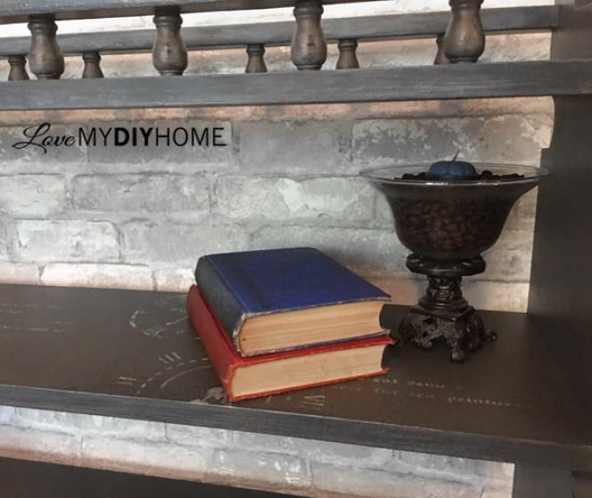 80s Bookshelf Redesigned {Love My DIY Home}