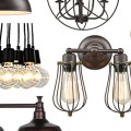 Budget Industrial Lights Idea Board {Love My DIY Home}