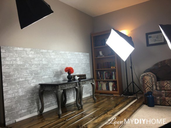Lighting for Staging Furniture {Love My DIY Home}