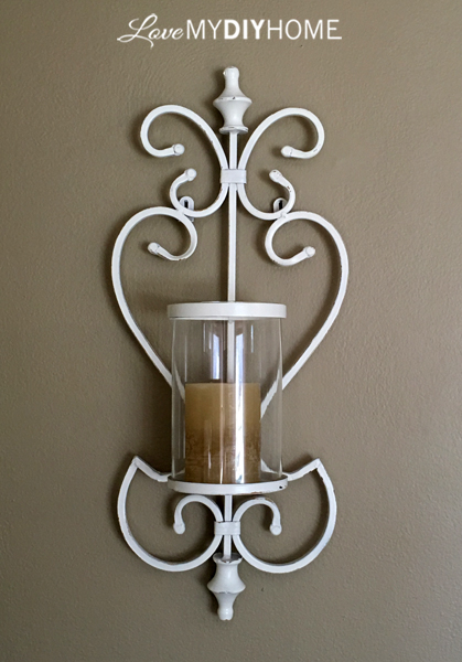 Garage Sale Sconce Update {Love My DIY Home}