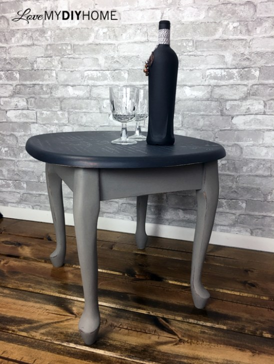 Annie Sloan Chalk Paint Renews End Table {Love My DIY Home}